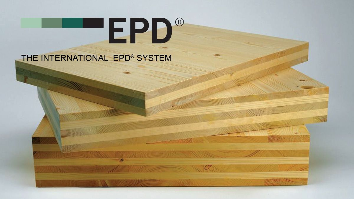 """Declaración Ambiental de Producto """"Cross Laminated Timber EGO CLT"""" de Egoin"""